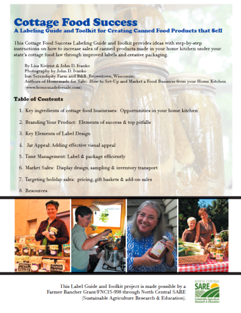 Cottage Food Success: A Labeling Guide and Toolkit for Creating Canned Food Products that Sell